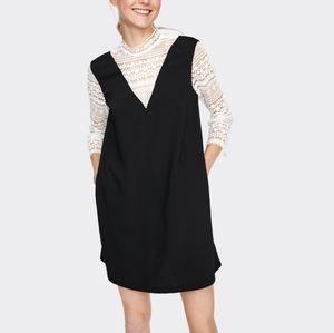 Zara Basic Contrasting Fabric & Lace Dress